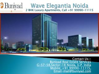 2 BHK Serviced Residencies in Wave Elegantia Noida