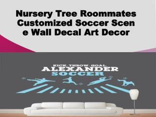 Nursery Tree Roommates Customized Soccer Scene Wall Decal Ar