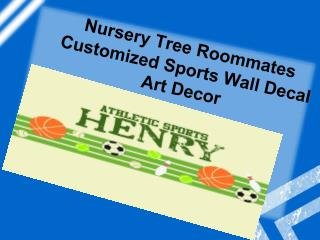 Nursery Tree Roommates Customized Sports Wall Decal Art Deco
