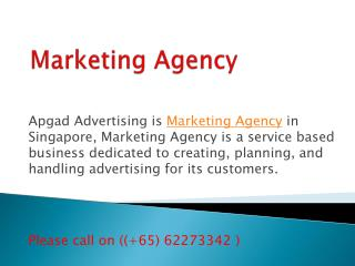 Advertising Agencies, Marketing Agency in Singapore