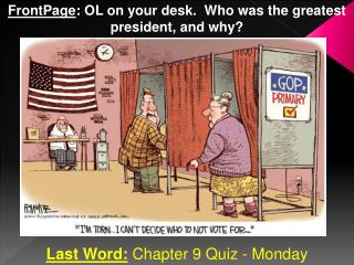 Last Word:  Chapter 9 Quiz - Monday