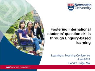 Fostering international students' question skills through Enquiry-based learning