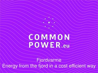 Fjordvarme Energy from the fjord in a cost efficient way