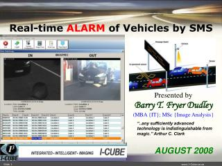 Real-time  ALARM  of  Vehicles by SMS