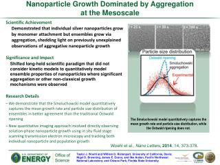 Nanoparticle Growth Dominated by Aggregation at  t he Mesoscale