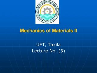 Mechanics of Materials II