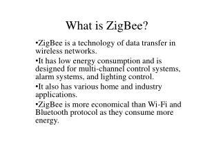 What is  ZigBee ?