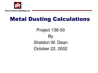 Metal Dusting Calculations