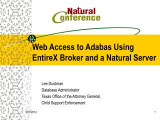 Web Access to Adabas Using EntireX Broker and a Natural Server