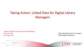 Taking Action: Linked Data for Digital Library Managers