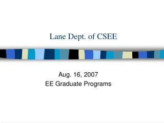 Lane Dept. of CSEE