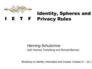 Identity, Spheres and Privacy Rules