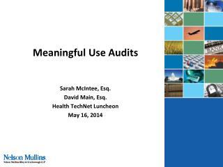 Meaningful Use Audits