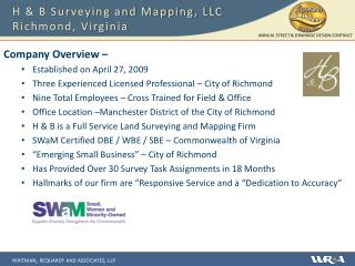 H & B Surveying and Mapping, LLC Richmond, Virginia