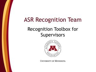 ASR Recognition Team