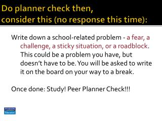 Do planner check then,  consider this (no response this time):