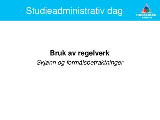 Studieadministrativ dag