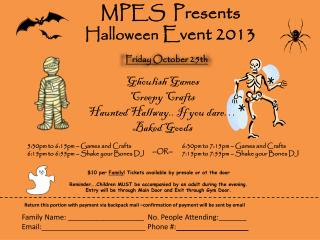 MPES  Presents Halloween  Event 2013