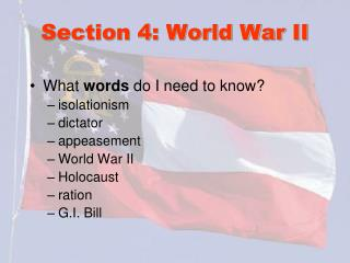 Section 4: World War II