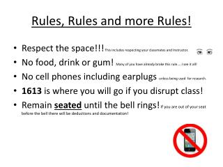 Rules, Rules and more Rules!