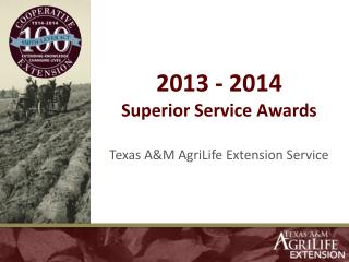 2013 - 2014 Superior Service Awards