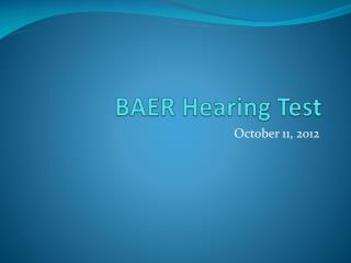 BAER Hearing Test
