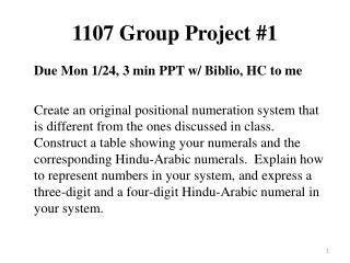 1107 Group Project #1