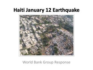 Haiti January 12 Earthquake