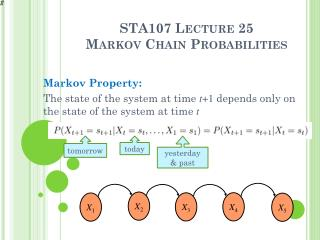 STA107 Lecture 25 Markov  Chain Probabilities