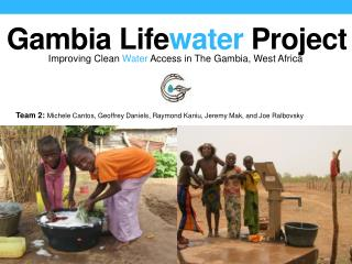 Gambia  L ife water  Project