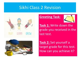 Sikhi Class 2 Revision
