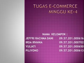 TUGAS E-COMMERCE MINGGU KE-4