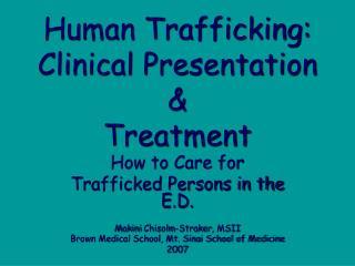 Human Trafficking:
