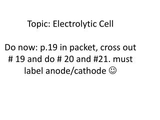 Chemical  rxns  can produce electricity  										= galvanic (voltaic) cell OR