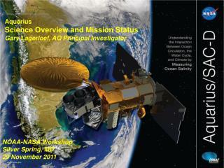NOAA-NASA Workshop Silver Spring, MD 29 November 2011
