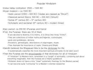 Popular Hinduism