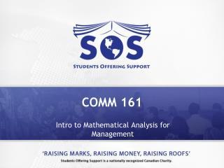 COMM 161