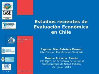 Estudios recientes de Evaluación Económica  en Chile