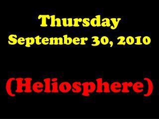 Thursday September 30, 2010