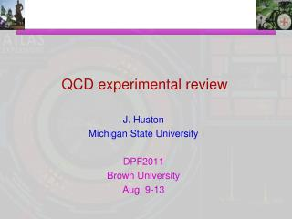 QCD experimental review