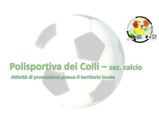 Polisportiva dei  Colli –  sez. calcio Attività di promozione presso il territorio locale