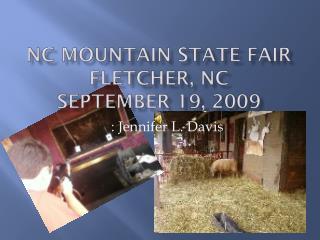 NC Mountain State Fair Fletcher, NC September 19, 2009