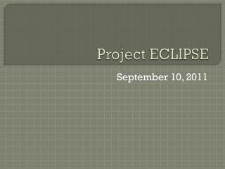 Project ECLIPSE