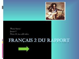 Français 2 du rapport