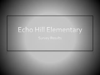 Echo Hill Elementary