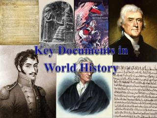 Key Documents in World History