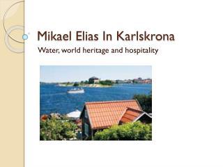 Mikael Elias In Karlskrona