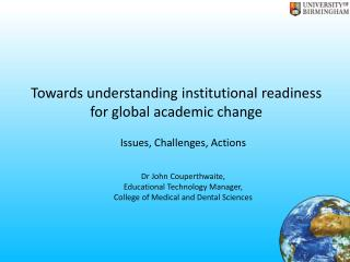 Towards understanding institutional readiness for global academic change