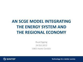 AN SCGE  model  integrating the  energy system  and the  regional economy