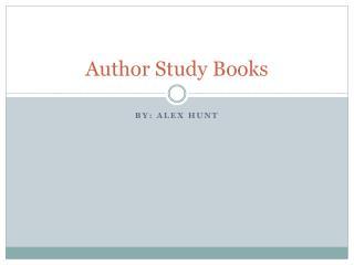 Author Study Books